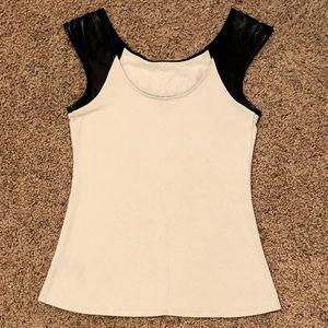 Express Black Cap Sleeve Shirt, Size Small